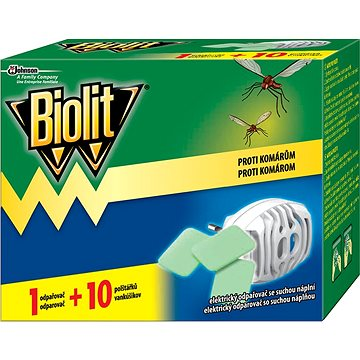 Odpuzovač hmyzu BIOLIT Elektrický odpařovač s suchou náplní 1 + 10 ks (5000204920901)