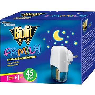 Odpuzovač hmyzu BIOLIT Family elektrický odpařovač s tekutou náplňí 45 nocí 1 + 27 ml (5000204920963)