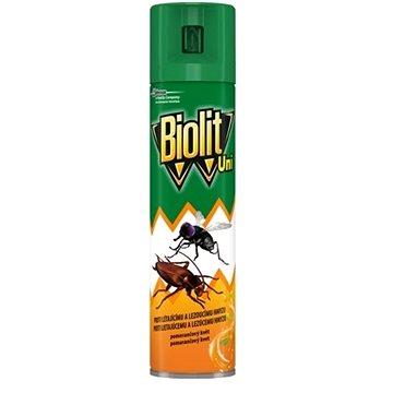 BIOLIT UNI proti létajícímu a lezoucímu hmyzu sprej s vůní pomeranče 400 ml (5000204991789)