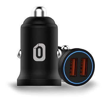 Odzu Car Charger Mini 2x Quick Charge 3.0 Black (CCHM-QC30-BK)
