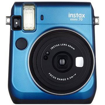 Fujifilm Instax Mini 70 modrý (16496079) + ZDARMA Fotopapír Fujifilm Instax mini film na 10 fotografií