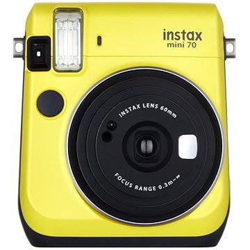 Fujifilm Instax Mini 70 žlutý (16496110) + ZDARMA Fotopapír Fujifilm Instax mini film na 10 fotografií
