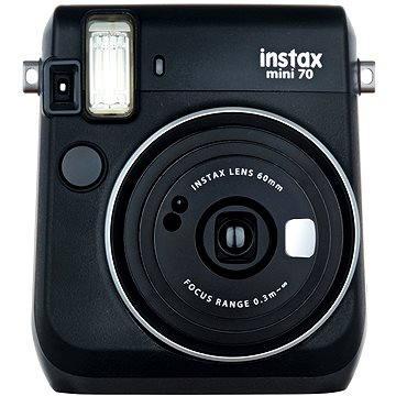 Fujifilm Instax Mini 70 černý (16513877) + ZDARMA Fotopapír Fujifilm Instax mini film na 10 fotografií