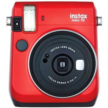 Fujifilm Instax Mini 70 červený (16513889) + ZDARMA Fotopapír Fujifilm Instax mini film na 10 fotografií