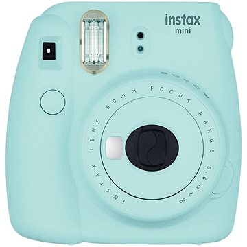 Fujifilm Instax Mini 9 světle modrý + film 1x10 + pouzdro (70100138441)