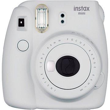 Fujifilm Instax Mini 9 popelavě bílý + film 1x10 + pouzdro (70100138440)