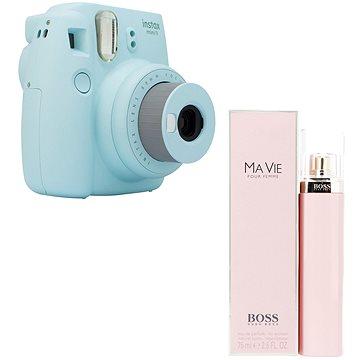 Fujifilm Instax Mini 9 světle modrý + HUGO BOSS Ma Vie Pour Femme EdP 75 ml