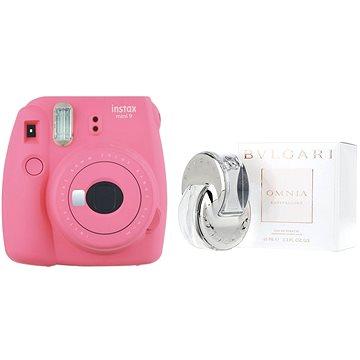 Fujifilm Instax Mini 9 růžový + BVLGARI Omnia Crystalline EdT 65 ml