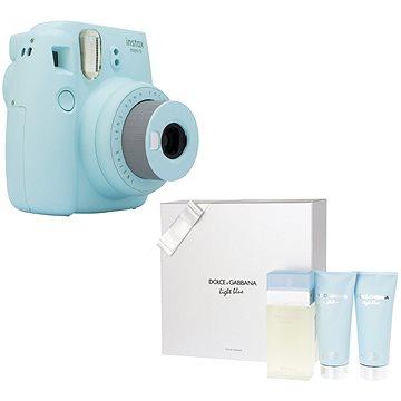 Fujifilm Instax Mini 9 světle modrý + DOLCE & GABBANA Light Blue 100 ml