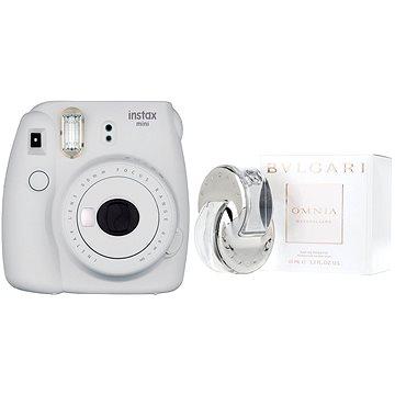 Fujifilm Instax Mini 9 popelavě bílý + BVLGARI Omnia Crystalline EdT 65 ml