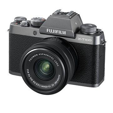 Fujifilm X-T100 stříbrný + XC 15-45mm f/3.5-5.6 OIS PZ (16582684)