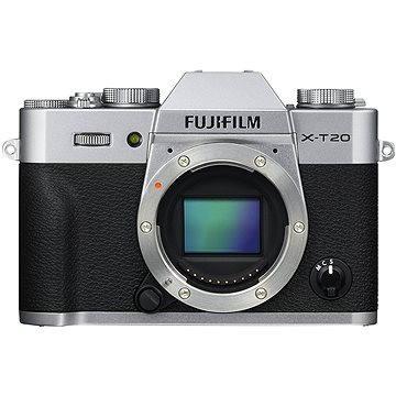 Fujifilm X-T20 tělo stříbrný (16542426) + ZDARMA Ministativ MANFROTTO MTPIXI-B PIXI černý Paměťová karta SanDisk SDHC 32GB Ultra Class 10 UHS-I