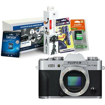 Fujifilm X-T20 tělo stříbrný + Fujifilm Foto Starter Kit