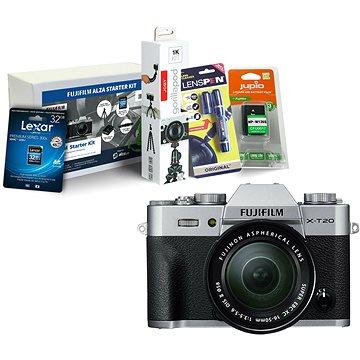 Fujifilm X-T20 stříbrný + XC16-50mm F3.5-5.6 OIS II + Fujifilm Foto Starter Kit