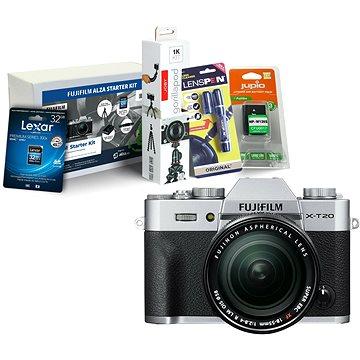 Fujifilm X-T20 stříbrný + XF 18-55mm F 2.8-4 R LM OIS + Fujifilm Foto Starter Kit