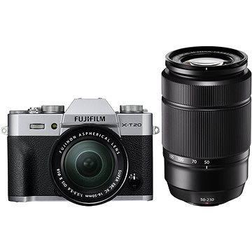Fujifilm X-T20 stříbrný + XC16-50mm F3.5-5.6 OIS II + XC50-230mm F4.5-6.7 OIS II (16543200)