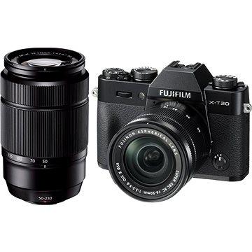 Fujifilm X-T20 černý + XC16-50mm F3.5-5.6 OIS II + XC50-230mm F4.5-6.7 OIS II