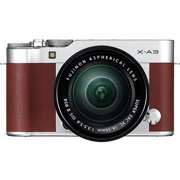 Fujifilm X-A3 hnědý + 16-50mm II (16531702)