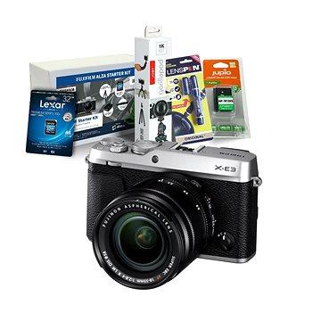 Fujifilm X-E3 stříbrný + XF 18-55mm + Fujifilm Foto Starter Kit