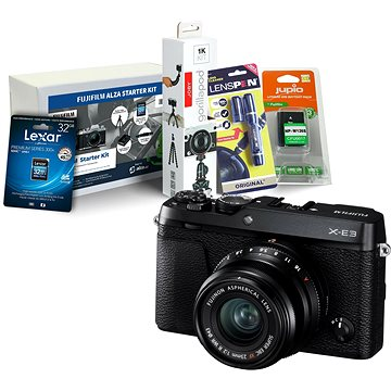 Fujifilm X-E3 černý + XF 23mm + Fujifilm Foto Starter Kit