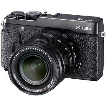Fujifilm X-E2s black + objektiv XF 18-55mm (16499227) + ZDARMA Brašna na fotoaparát Lowepro Format 110 černý Ministativ MANFROTTO MTPIXI-B PIXI černý