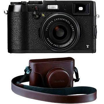 Fujifilm X100T Black + hnědé kožené pouzdro (70100115006) + ZDARMA Poukaz Elektronický dárkový poukaz Alza.cz v hodnotě 1000 Kč, platnost do 28/2/2017