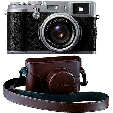Fujifilm X100S Silver + x100s leather case Brown (70100111068)
