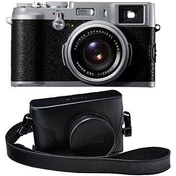 Fujifilm X100S Silver + x100s leather case Black (70100111067)