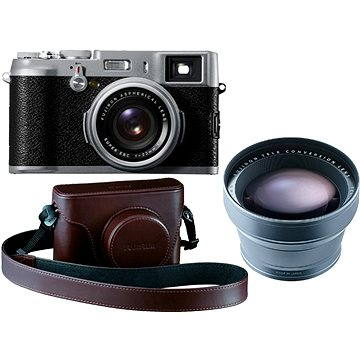 Fujifilm X100S Silver + leather case Brown + TCL lens (FTDFFUX100061)