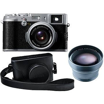Fujifilm X100S Silver+ leather case Black + TCL Lens (FTDFFUX100062)