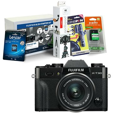 Fujifilm X-T30 černý + XC 15-45mm + Fujifilm Foto Starter Kit
