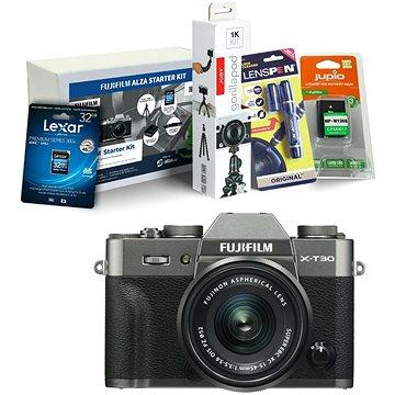 Fujifilm X-T30 šedý + XC 15-45mm + Fujifilm Foto Starter Kit