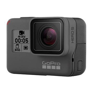 GOPRO HERO5 Black (CHDHX-502) + ZDARMA Držák GOPRO 3-Way Grip/Arm/Tripod Baterie GOPRO Rechargeable Li-Ion Battery HERO5 Black a HERO 6 Black
