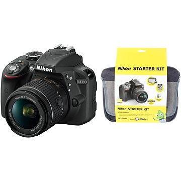 Nikon D3300 + Objektiv 18-55 AF-P VR + Nikon Starter Kit