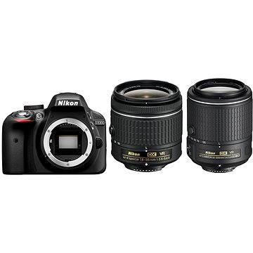 Nikon D3300 + Objektiv 18-55 AF-P VR + 55-200 VR II (VBA390K009)