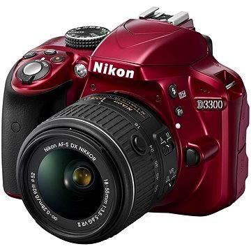 Nikon D3300 RED + Objektiv 18-55 AF-P VR (VBA391K002)