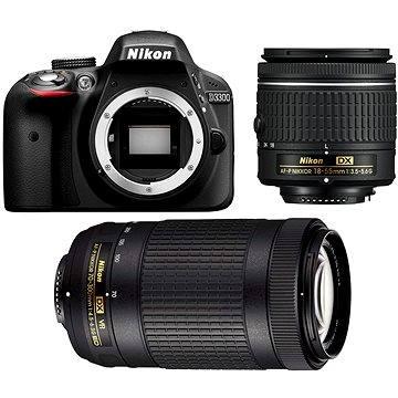 Nikon D3300 černý + 18-55 AF-P VR + 70-300 AF-P VR (VBA370K015)