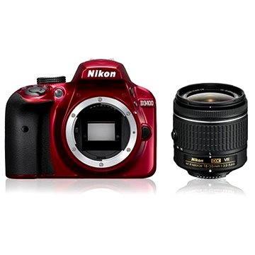 Nikon D3400 červený + 18-55mm AF-P VR (VBA491K001)