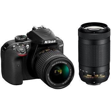 Nikon D3400 černý + 18-55mm VR + 70-300 VR (VBA490K005) + ZDARMA Brašna Nikon CF-EU11