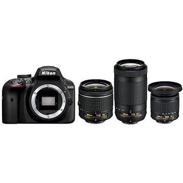 Nikon D3400 černý + 18-55mm VR + 70-300mm VR + 10-20mm VR + ZDARMA Grafická aplikace ZONER Photo Studio X (DE) Grafická aplikace ZONER Photo Studio X (EN)