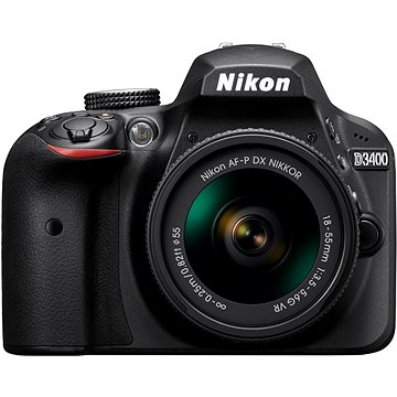 Nikon D3400 černý + 18-55mm AF-P + TAMRON AF 70-300mm f/4.0-5.6 Di pro Nikon LD Macro 1:2