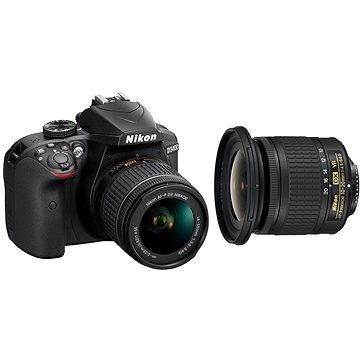 Nikon D3400 černý + 18-55mm AF-P + 10-20mm AF-P VR