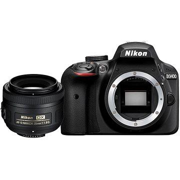 Nikon D3400 černý + 35mm DX (VBA490K014)