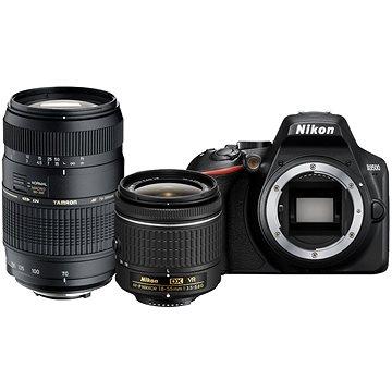 Nikon D3500 černý + 18-55mm VR + Tamron 70-300mm