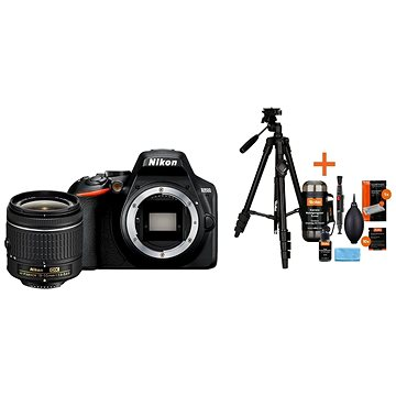 Nikon D3500 černý + 18-55mm + Rollei Foto Starter Kit 2