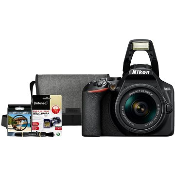 Nikon D3500 černý + 18-55mm + Nikon Starter Kit 55mm - 32GB