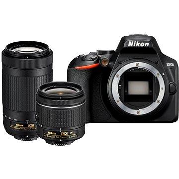 Nikon D3500 černý + 18-55mm VR + 70-300mm VR (VBA550K005)