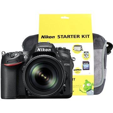 Nikon D7200 černý + objektiv 18-105 VR AF-S DX + Nikon Starter Kit + ZDARMA Grafická aplikace ZONER Photo Studio X (DE) Grafická aplikace ZONER Photo Studio X (EN)