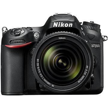 Nikon D7200 černý + objektiv 18-140 VR AF-S DX (VBA450K002)