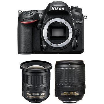 Nikon D7200 černý + 18-140mm VR AF-S DX + 10-24mm F3.5-4.5G AF-S DX + ZDARMA Grafický software Zoner Photo Studio 18 PRO